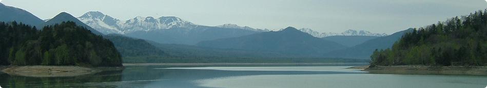 写真:糠平ダムから北を望む